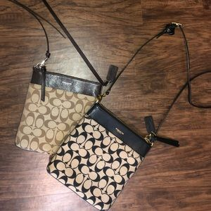 2 Coach crossbody purses